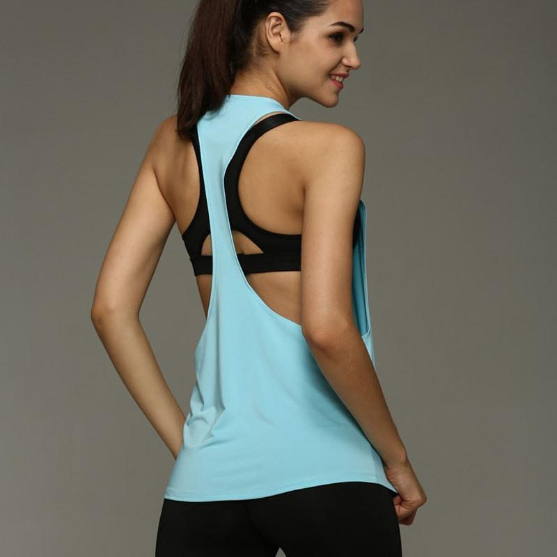 0e6577b72685a Tees + Tanks Summer Sexy Women Tank Top - Dry Quick Loose Sleeveless Vest -  Gym