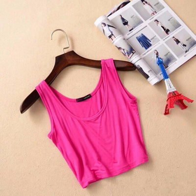 Tees + Tanks Women Summer Style Sleeveless Crop Top