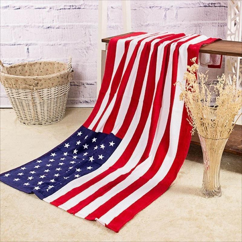 Towels USA UK CANADA Flag Cotton Beach Bath Towel - Super Large