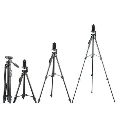Tripods Aluminum Tripod with 3-Way Head & Bluetooth Remote + clip for Camera Phone