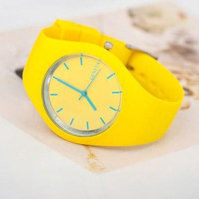 Casual Geneva New Quartz Sports Watch - Silicone Candy Colored - Bodeaz.com
