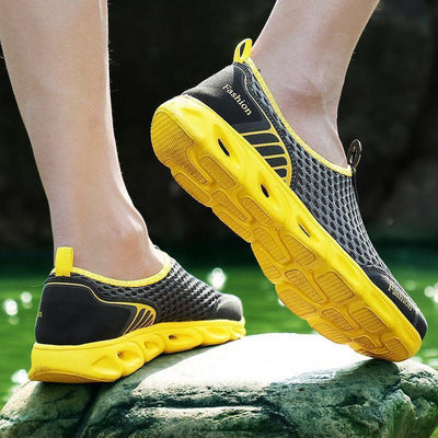 Water Shoes Mesh Aqua Sneakers Hiking Sandals Breathable Yellow