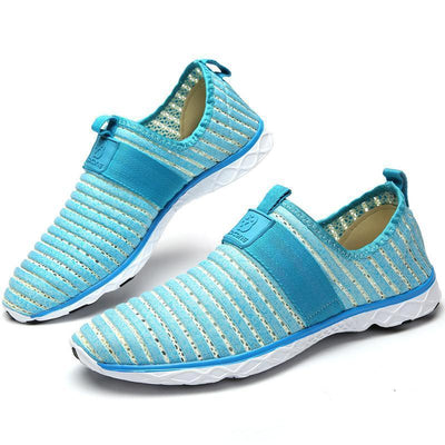 Water Shoes Stripes Mesh Aqua Sneaker