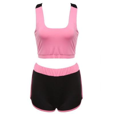 Women Sports Clothing Hot Fitness Outfit - Top & Short