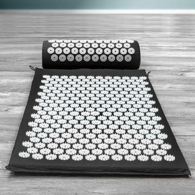 Yoga Mat Acupressure Mat & Pillow Set for Back/Neck Pain Relief