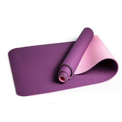Yoga Mat Double Sided Color Eco-friendly Yoga Mat - Violet