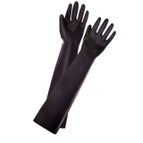 Long Black Fetish Latex Gloves