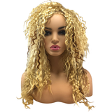 80's Crimp Blond Rocker Wig