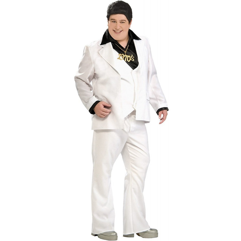 70's Disco Fever White Suit Plus Size