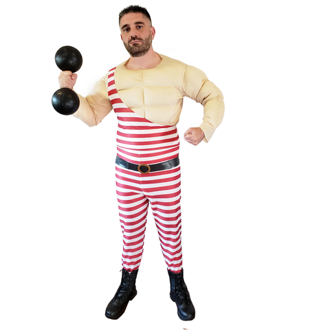 Circus Muscle Man Carny Costume