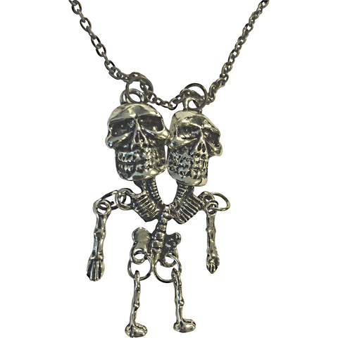 Siamese Twin Skeleton Necklace