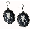 Siamese Conjoined Twin Skeleton Earrings