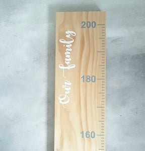 Height chart- personalized cursive font