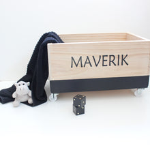 Load image into Gallery viewer, Personalised Toy Box- Simple Scandi