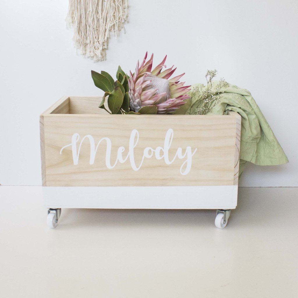 Personalised Toy Box- Cursive