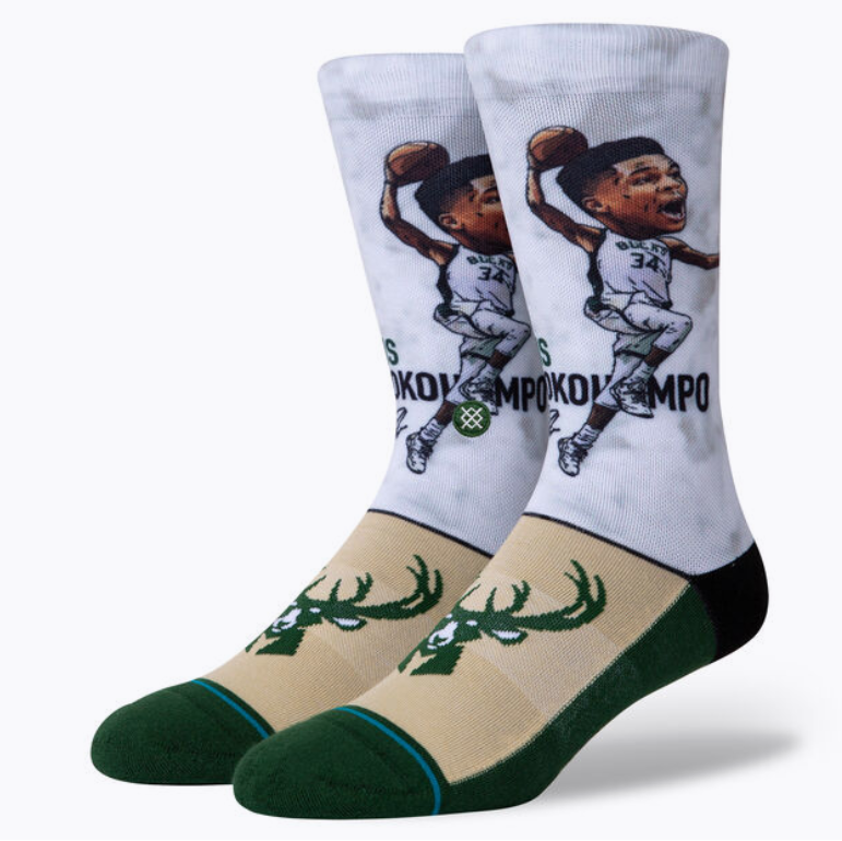 Stance Socks - GIANNIS (GREAK FREAK) - BIG HEAD - NBA