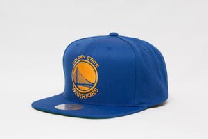 GOLDEN STATE WARRIORS MITCHELL & NESS NBA SOLID SNAPBACK CAP HAT - Sneaker Rise