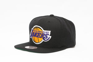 LOS ANGELES LAKERS MITCHELL & NESS NBA TEAM LOGO SNAPBACK CAP HAT - Sneaker Rise