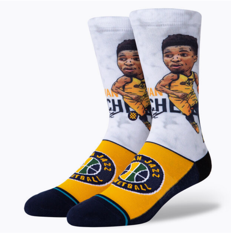 Stance Socks - DONOVAN MITCHELL - BIG HEAD