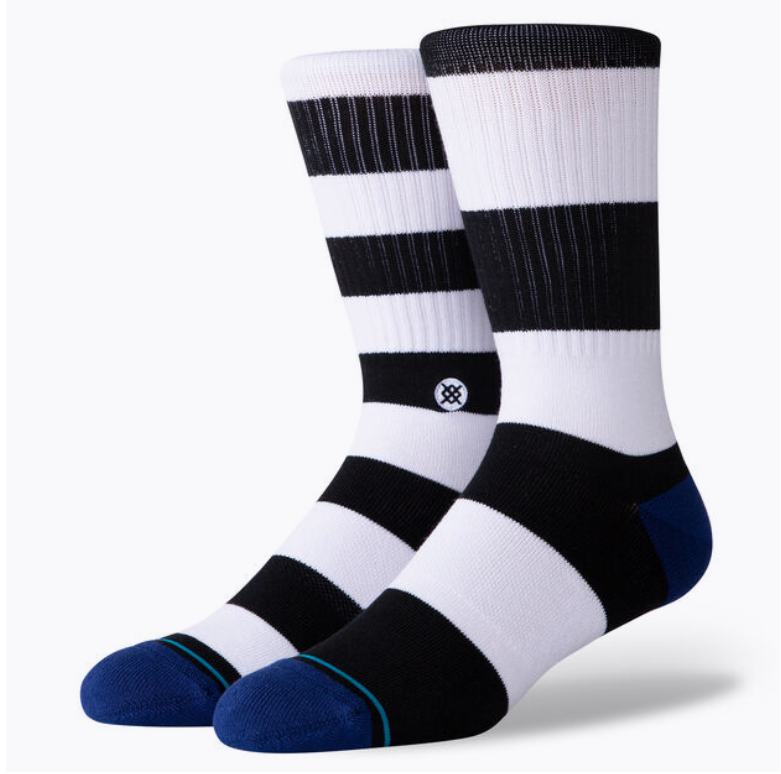 STANCE MARINER ST CREW SOCK (White/Blue/Black)