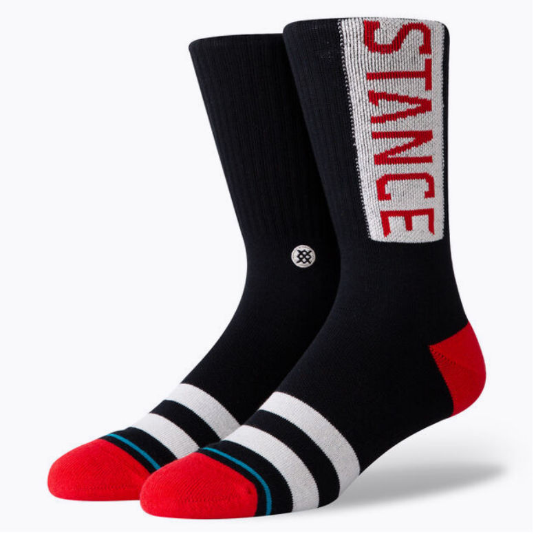 STANCE OG CREW SOCK (RED/Black)
