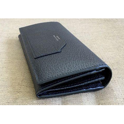 GUCCI DANDY NEW CHESTER BLACK LEATHER SLIM ENVELOPE UNISEX WALLET 322104