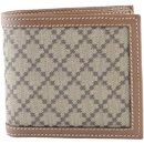 Gucci Men's Canvas Leather Trimmed Bifold Wallet .. slim fold