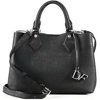 Diane Von Furstenberg Voyage Small Saffiano Leather Satchel Black