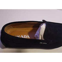 Prada Men's 2DD075 Suede Loafers Size 6.5 ( US 7.5) Blue Suede