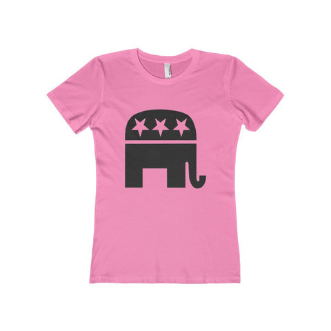 Women's Republican Political Party Elephant Mascot The Boyfriend Tee T-Shirt Sunny Shapes: Online Shopping for Furniture, Crafts, Home Decor...