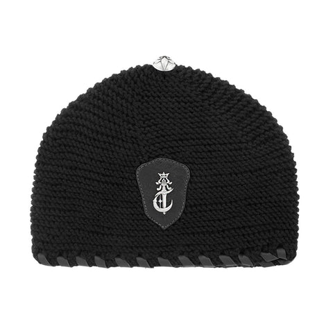 Beanie Hat with Poniard Silver Logo