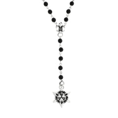 Bead Rosary with Silver Star of David