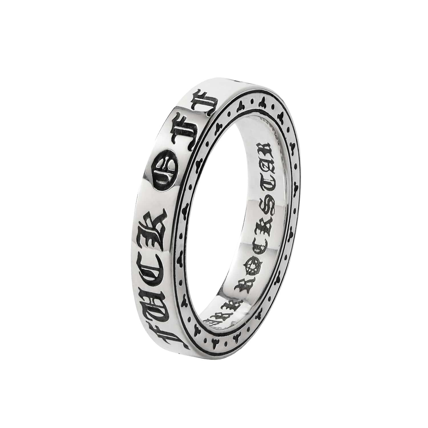 Fuck Off Sterling Silver Ring Band