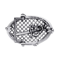 Slick Silver Belt Buckle