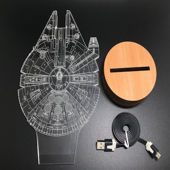 3D Millennium Falcon LED Lamp