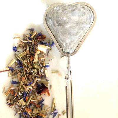 Tea infusers, Mesh loose leaf infuser, Heart shaped, QTea