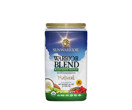 Warrior Blend Protein Natural 1kg Raw Vegan Sunwarrior - Healthhub247.com