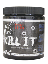 5% Kill It –Pre Workout Blue Raspberry 288gm 30 Serves Rich Piana
