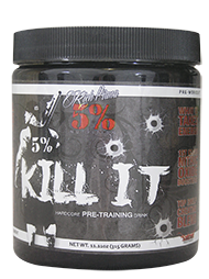 5% Kill It –Pre Workout Fruit Punch 288gm 30 Serves Rich Piana
