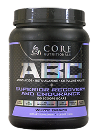 Core Nutritionals ABC Superior Recovery and Endurance 1kg 100 Scoops 50 serves White Grape - Healthhub247.com