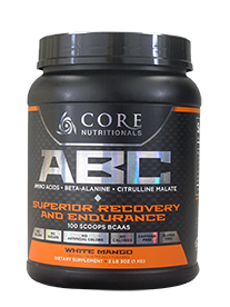 Core Nutritionals ABC Superior Recovery and Endurance 1kg 100 Scoops 50 serves White Mango - Healthhub247.com