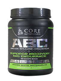 Core Nutritionals ABC Superior Recovery and Endurance 1kg 100 Scoops 50 serves Wicked White Watermelon - Healthhub247.com