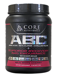 Core Nutritionals ABC Superior Recovery and Endurance 1kg 100 Scoops 50 serves Wild White Cherry - Healthhub247.com