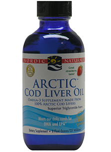 Arctic Cod Liver Oil Liquid Strawberry 237ml-Nordic Naturals - Healthhub247.com