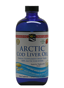 Arctic Cod Liver Oil Liquid Strawberry 473ml- Naturals - Healthhub247.com