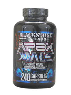 APEX MALE Testosterone Booster 240 Capsules -Blackstone Labs