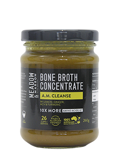 Bone Broth Concentrate - A.M. CLEANSE 260gm  Meadow & Marrow - Healthhub247.com