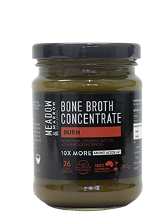 Bone Broth Concentrate - Burn 260gm  Meadow & Marrow - Healthhub247.com