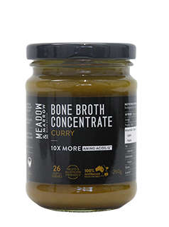 Bone Broth Concentrate - Curry 260gm  Meadow & Marrow - Healthhub247.com