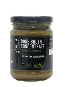 Bone Broth Concentrate – Lemon & Herb 260gm Meadow & Marrow - Healthhub247.com